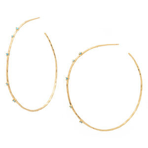 GORJANA Gold Turquoise stone earrings CLEO NEWgorj